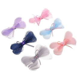 kid hair clips for sale UK - Hot Sale 2 Pcs sets Candy Colors Flower Hair Clips For Girls Chiffon Bow Knot Hairpins Hairgrips Kids Hair Accessories