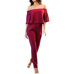 $enCountryForm.capitalKeyWord UK - Sexy Women Ladies Jumpsuit Off Shoulder Sleeveless Beach Evening Party Slim Jumpsuit Women Romper Clothes