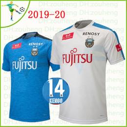 e4f8bc2a4db 2019 20 J League Club Kawasaki Frontale soccer Jerseys Junior Amano Edigar  Yu Kobayashi Damiao Customize Home Blue Away white Football Shirt