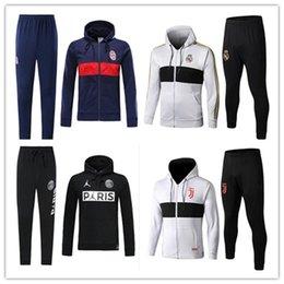 Wholesale soccer hoodies men online – oversize 2019 Bayern Munich Hoodies Jacket Kits JAMES MULLER Long Sleeve Soccer Tracksuit Mens Bayern Hooded Training Suits sportswear