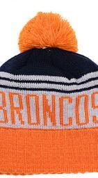 Custom Fashion Beanies Australia - 2019 Unisex Autumn Winter hat Sport Knit Hat Custom Knitted Cap Sideline Cold Weather Knit hat Warm BRONCOS Beanie Skull Cap 00