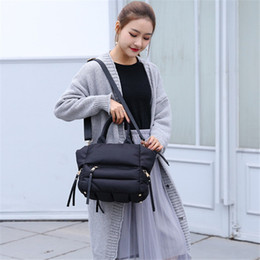 $enCountryForm.capitalKeyWord NZ - Fashion Down Feather Women Handbag Casual Shoulder Crossbody Bag Space Cotton Clothing Female Tote Bag Sac A Main Bolsa