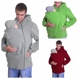 695a6426a057d 3 Colors Men s Autumn Baby Carrier Hoodie Zip Up Maternity Kangaroo Hooded  Sweatshirt Pullover 2 In 1 Baby Carriers CCA9111 10pcs