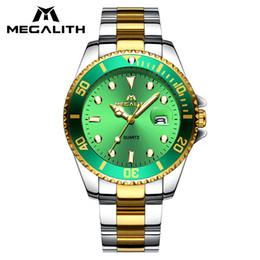 $enCountryForm.capitalKeyWord NZ - MEGALITH Stainless Steel Quartz Watch Men Waterproof Men Watches Top Brand Luxury Date Calendar Wristwatch For Men Clock