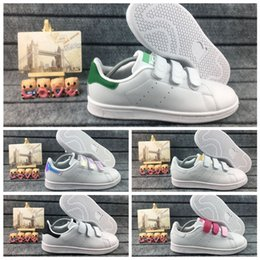 $enCountryForm.capitalKeyWord Australia - size 22-35 boys girls stan smith kids Multi Hook & Loop Shoes Kawakubo children baby samba pink white red blue love Casual Shoes