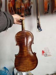 Discount ebony flame - Master 4 4 Violin flamed maple Stradi model excellent handcraft violin