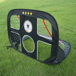 Discount soccer toys for kids WISHOME Pop Up Soccer Goal Portable Football Gate Children Futbol Goal Folding Net for Kids Outdoor Indoor Toy Soccer Equipment
