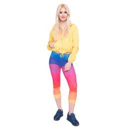 $enCountryForm.capitalKeyWord NZ - Girls Leggings Capri Pants Triangles Rainbow 3D Graphic Full Print Skinny Yoga Pants Woman Casual Pencil Fit Lady Runner Jeggings (Y45793)