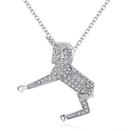 Horse Gifts Sale Australia - Hot Sale Women Girl Crystal Unicorn Horse Pendant Necklace Chain Choker Children Christmas Gift Fashion Jewelry