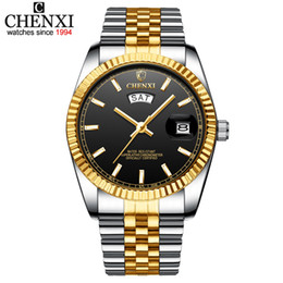 $enCountryForm.capitalKeyWord Australia - 2019 CHENXI Male Watch Luxury Business Men Watch Stainless Steel Belt Golden Clock Fashion Men's Quartz Wristwatches Relogio Masculino