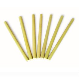 Bamboo Straw Reusable Straw Organic Bamboo Drinking Straws Natural Wood Straws For Party Birthday Wedding Bar Tool DHL Free