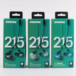 Hi Stereo Australia - SE215 Earphons Hi-fi stereo Noise Canceling 3.5MM SE 215 In ear DetchableEarphones Wired with Box Special Version