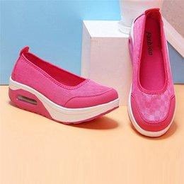 $enCountryForm.capitalKeyWord Australia - Spring Women Flats Shake Shoes Women Breathable Mesh Casual Shoes Fashion Platform Sandals Ladies Slip-On Flat