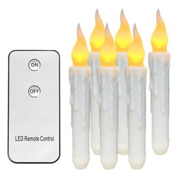 $enCountryForm.capitalKeyWord NZ - Led Remote Control Wax Flameless Flickering Christmas Lamp Candle Lights Wedding Decor Home Xmas Decoration Candles 6pcs Q190529