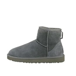 Paint heels online shopping - 300 Hot Snow Winter Leather Women kneel half Long Boots Ankle Black Grey chestnut navy blue red coffee Womens girl shoes