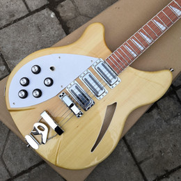 China Left-handed 12 Strings Guitar Model natural yellow 370 Electric Guitar Semi Hollow Body Natural Yellow Triangle MOP China Guitars suppliers