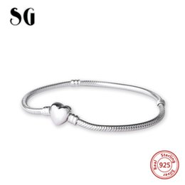 $enCountryForm.capitalKeyWord UK - 2018 Sg Luxury 100% 925 Sterling Silver 19cm Snake Chain Diy Charms Authentic Bracelet Fashion Jewelry Making For Women Gifts C19021501