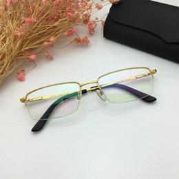 f31f627267f5 Rimless Eyeglasses Titanium Australia - 2019 New Luxury Glasses Famous  France Designer Semi Rimless Eyeglasses High