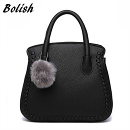 $enCountryForm.capitalKeyWord Australia - Bolish Women Simplicity Shoulder Bag England Style Lady Fashion Handbag Fur Ball Casual Totes Socialite Solid Crossbody Bag