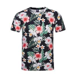 $enCountryForm.capitalKeyWord UK - Wholesale Japanese men's t-shirt digital printing 3d short t shirt teen large size couple T-shirt Funny neutral flower short-sleeved