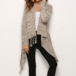 Tassel fringe jackeT online shopping - Women Knitted Winter Warm Sweater Cardigans Long Sleeve Tassel Fringe Shawl Poncho Cardigan Jackets Coats Oversized Female Cloth