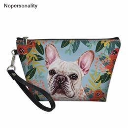 $enCountryForm.capitalKeyWord Australia - Nopersonality Women Makeup Bag Joyful Dog Prints Small Leather Cosmetic Case for Ladies Travel Wash Toiletry Bags Organizer Case