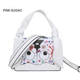 Pink sugao designer women shoulder handbag luxury cartoon cute crossbody  handbag casual flower printed bag new fashion clear and lovely bags cafe3be8af6af