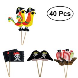 $enCountryForm.capitalKeyWord Australia - heap Cake Decorating Supplies 40 pcs Topers Pirate Theme Unique Design Food-grade Attractive Cake Insert Card Ornamnets Party Decoration ...