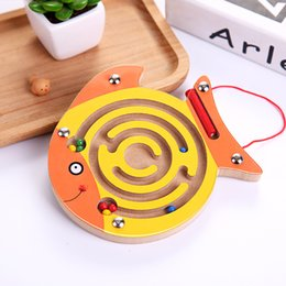 $enCountryForm.capitalKeyWord NZ - New Wooden Magnetic Maze Toys Cartoon Animal Series Intellectual Games Small Pen Labyrinth Puzzle Baby Educational Toy For Kids