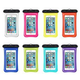 waterproof cell phone lanyard 2019 - Floating Waterproof Case Bag Universal For iPhone X Samsung S10 Cell Phone Waterproof Dry Bag Up to 6.0 Inch Diagonal Wi
