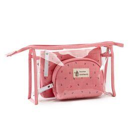 Wholesale Pvc Zipper Bag Australia - Women Transparent Cosmetic Bag Clear Zipper Travel Make Up Makeup Beauty Organizer Storage Pouch PVC Toiletry Wash 3pcs set