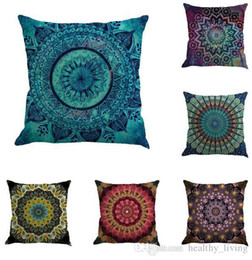 $enCountryForm.capitalKeyWord UK - Mandala Cushion Cover Bohemia Geometric Pillowcase Linen 16 Styles Chair Seat Car Sofa Decorative Square 18 inch Pillowcase