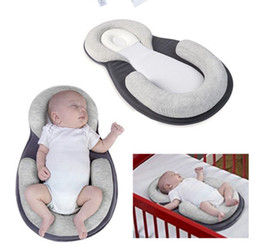 Solid Baby Bedding Australia - Baby Stereotypes Infant Newborn Anti Rollover Mattress Pillow Baby Sleep Bed