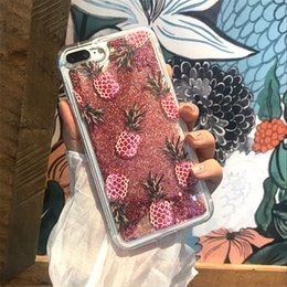 Capa Iphone Glitter Australia - Mytoto Bling Glitter Dynamic cactus pineapple Liquid Quicksand Phone Back For iPhone 6 6 S XS Max XR Case For iPhone 7 8 X 6S Plus Capa