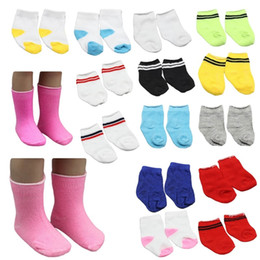 $enCountryForm.capitalKeyWord NZ - 1 Pair!!! Mini Sock Fit 43cm Baby 18 Inch Doll Clothes Accessories For Dolls Baby Best Christmas Gifts
