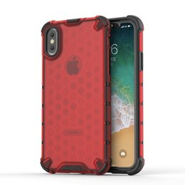 honeycomb iphone UK - Honeycomb Transparent Case for iphone 11 11pro Max X XS XR XSMAX Hard PC Soft TPU Phone Case for iphone X
