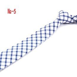 Natural Fibers Australia - Mens Cotton Tie 6 CM Brown Gingham Natural Organic Fibers Ties Neckties Thick Wide Normal Men Wedding
