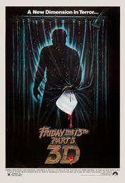 art parts 2019 - Horror: Friday the 13th Part 3 3D USA Movie Art Silk Print Poster 24x36inch(60x90cm) 015 discount art parts