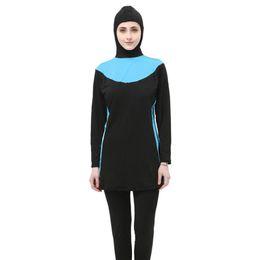$enCountryForm.capitalKeyWord Australia - Plus Size S-5XL Modest Long Sleeve Swimsuit Girl Hijab Swimming Suit Islamic Muslim Women Sports Women's Small Swimwear Moslim