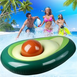 sport mattress NZ - fruit shape inflatable mattress swim rings summer water sport toy giant Avocado floats floating swim pool lounger chair MMA2014-1