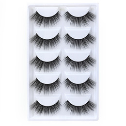 Handmade False Eyelashes Natural Long NZ - 5pairs set False EyeLashes 5 Pairs 3D Natural Long Fake Eyelashes G803 Handmade Makeup Tools Accessories