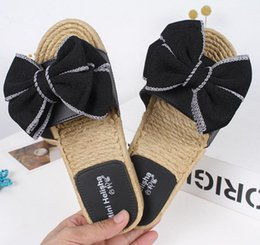 $enCountryForm.capitalKeyWord Australia - 3A candy color bow sandals womens famous designer slippers double layer bowtie terlik platform sandalias flat heel flip flops c685