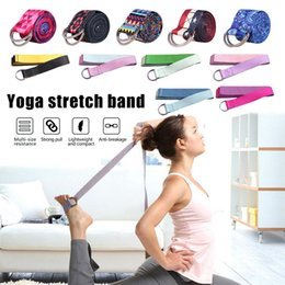 Discount stretch rope exercises Women Yoga Stretch Strap Multi-Colors D-Ring Belt Fitness Exercise Rope Figure Waist Leg Resistance Fitness Bands Yoga B