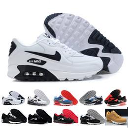Ingrosso nike air max 90 90s airmax 2017 di alta qualità dei pattini correnti dell'ammortizzatore 90 Kpu delle donne degli uomini Classic 90 Scarpe casuali formatori Sneakers uomo ch