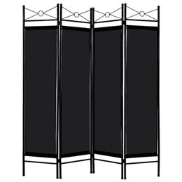 tube light frame NZ - 4 Panels Metal Frame Room Private Folding Screen High Quality Polyester Fabrics Durable Iron Tubes Screen Simple Assembly