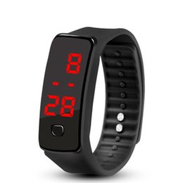 Lover's Watches Led Silicone Wristband Bracelet Lightweight Soft Fashion Fitness Sports Band Watch For Men Women Valentine Boys Children Gifts