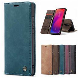 Wholesale Caseme Retro Wallet Leather Case For Xiaomi NOTE10 CC9 MI T Redmi K20 PRO NOTE Flip Magnetic Stand TPU ID Card Phone Book Cover