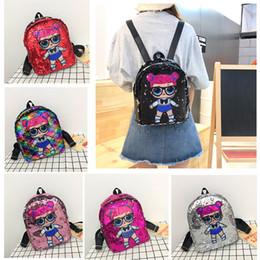 $enCountryForm.capitalKeyWord Australia - 2020 Sequin Kids Toys Designer Doll Backpack 21*26cm Cartoon Handbag Girl Storage Bags Fashion Backpacks Hop-Pocket Women Gift Bag M134F