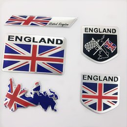 Wholesale 2019 New England Flag Car Stickers United Kindom Emblem UK Badge Decal For BMW Audi Ford Land Rover Mini Cooper Jaguar Auto Styling