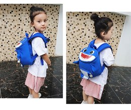 $enCountryForm.capitalKeyWord Australia - Kids ANTI-LOST Backpack Lovely Baby shark Boys Girl Schoolbag Rucksack Cartoon Baby Children Harnes Toddler Safety Strap Backpack 2019A52208
